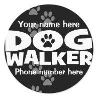 Dog Walking and Dog Walker promotion! Round Sticker