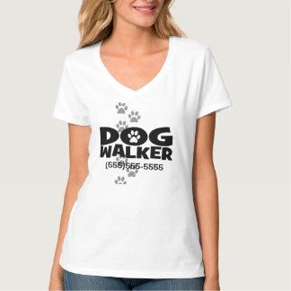 Dog Walking and Dog Walker promotion! T-Shirt