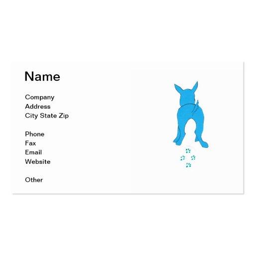 Dog Walking Blue Business Card