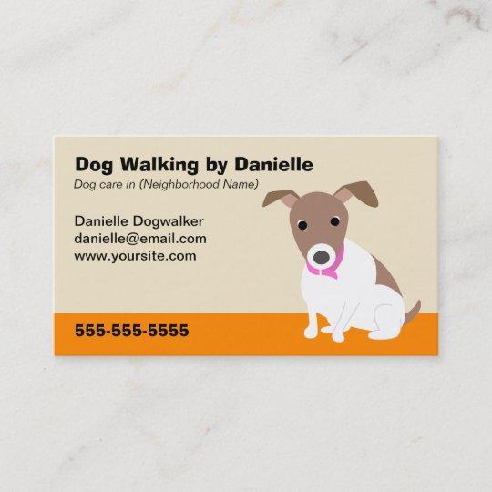 dog walking business business card