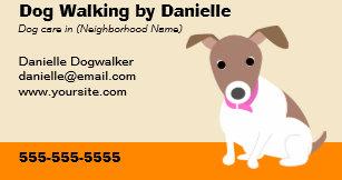 Dog walking business cards templates zazzle dog walking business business card colourmoves