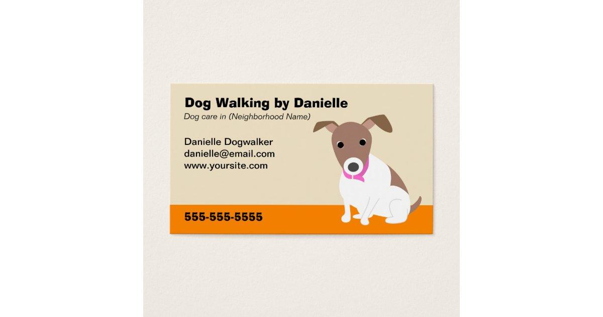 dog walking business business card. Black Bedroom Furniture Sets. Home Design Ideas