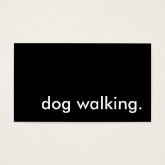 dog walking. business card