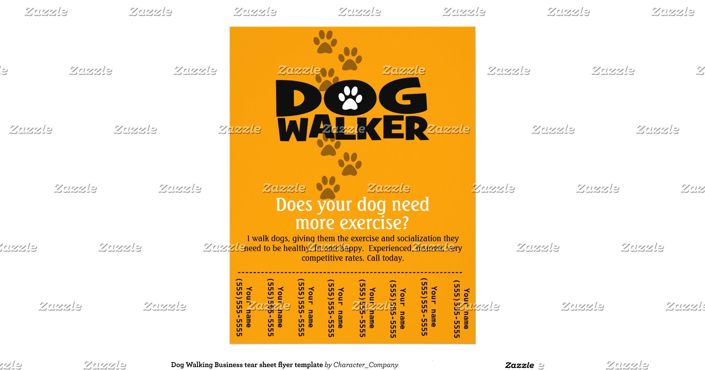 dog walking poster template