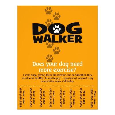 dog walker cover letter