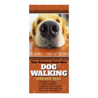 Dog Walking Customizable Marketing Advertising Rack Card