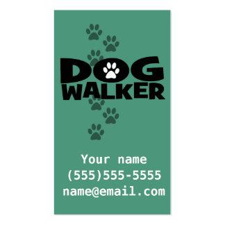 Dog Walking. Dog walker business card. teal Business Card