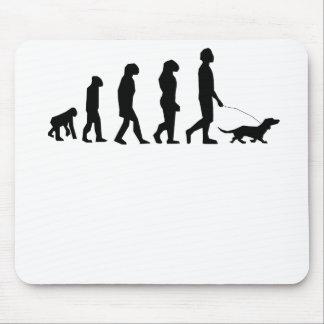 Dog Walking Evolution Mouse Pad
