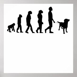 Dog Walking Evolution Posters