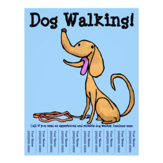 Dog walking flyers programs zazzle dog walking flyer pronofoot35fo Choice Image