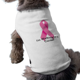 Dog Walking for a Cure White Dog T-shirt