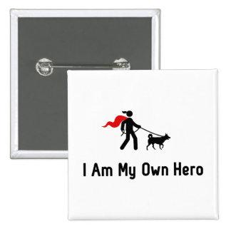 Dog Walking Hero Pinback Button