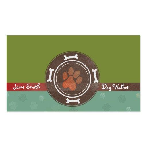 dog walking & Pet Sitting business cards