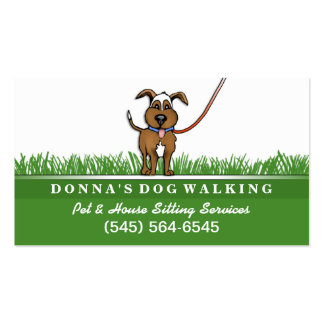 Dog Walking & Pet Sitting Services Business Card