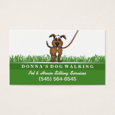 Dog Walking & Pet Sitting Services Business Card at Zazzle