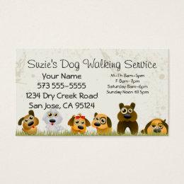 Dog walking business cards templates zazzle dog walking service business card colourmoves