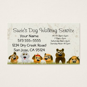 Professional Business Dog Walking Service Business Card