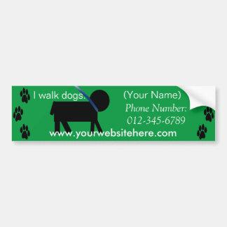 dog walking service sticker car bumper sticker
