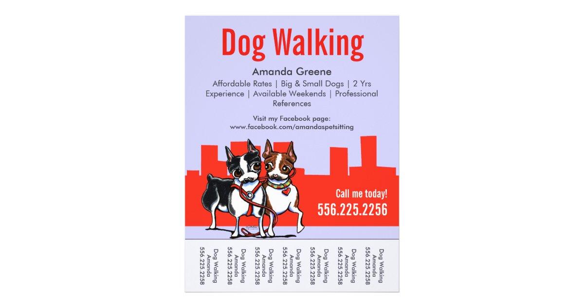 dog walker advertising ideas