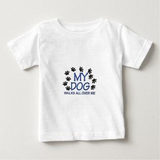 Dog Walks Paws Baby T-Shirt