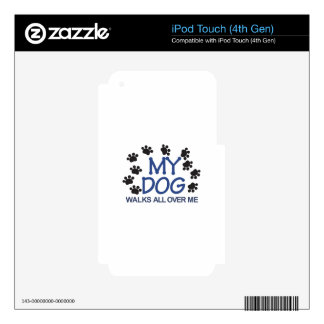 Dog Walks Paws Decals For iPod Touch 4G