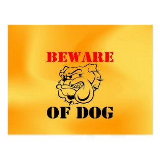 Dog Warning Pet beware Postcard