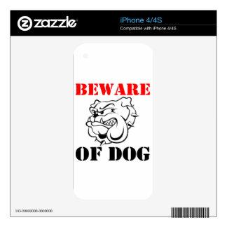 Dog Warning Pet beware iPhone 4 Decals