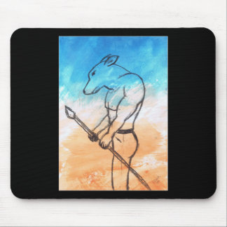 Dog Warrior Mouse Pad