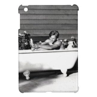 Dog Washes Boy iPad Mini Covers