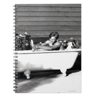 Dog Washes Boy Notebook