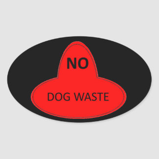 Dog Waste - NO Oval Sticker