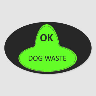 Dog Waste - OK Oval Sticker