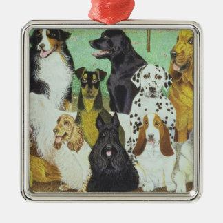 Dog Watch Metal Ornament