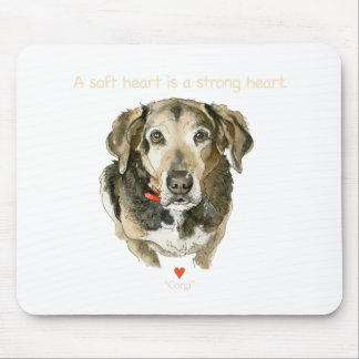 Dog watercolor soft heart is a strong heart mouse pad