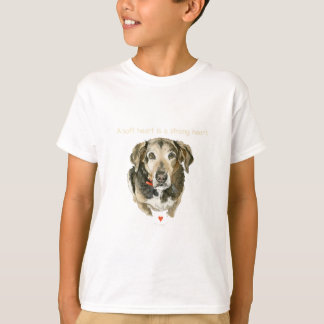 Dog watercolor soft heart is a strong heart T-Shirt