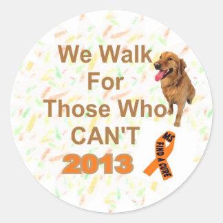 DOG WE WALK ms walk Classic Round Sticker