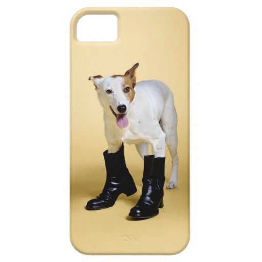 Dog wearing boots iPhone 5 cover