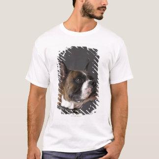 Dog wearing collar, looking away T-Shirt