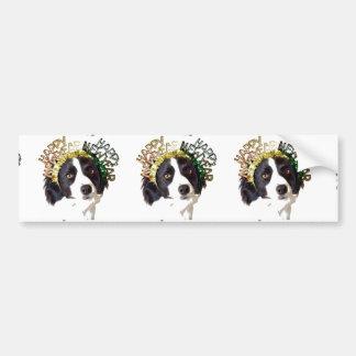 Dog Wearing Happy New Year Hats Bumper Sticker