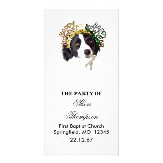 Dog Wearing Happy New Year Hats Card