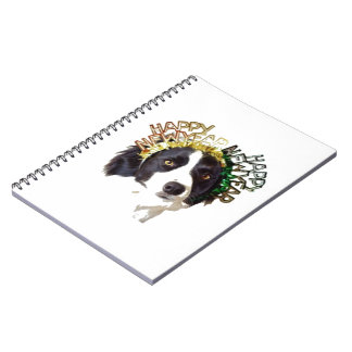 Dog Wearing Happy New Year Hats Notebook
