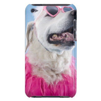 Dog wearing heart shaped classes and tu-tu barely there iPod case