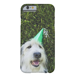 Dog wearing party hat barely there iPhone 6 case