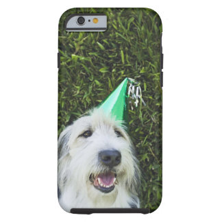 Dog wearing party hat tough iPhone 6 case
