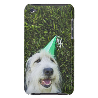 Dog wearing party hat iPod touch case