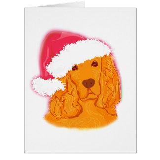 Dog Wearing Santa Hat  Card