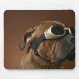 Dog wearing sunglasses 2 mouse pad