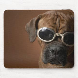 Dog wearing sunglasses 3 mouse pad