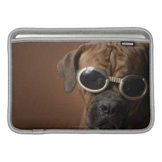 Dog wearing sunglasses MacBook air sleeve