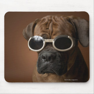 Dog wearing sunglasses mouse pad